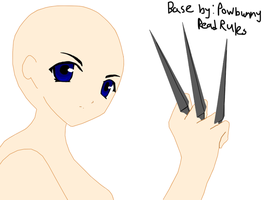 Girl with Kunai Base by PowBunny