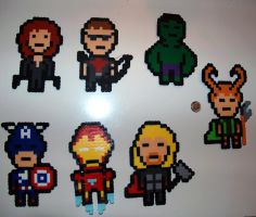 Chibi Avengers Perlers Set by LillyInverse