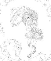Shappo Lolita :lineart: by Trinity-In-Rainbows