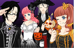 Happy Early Halloween from the Basana couples! by AliceWinterWish
