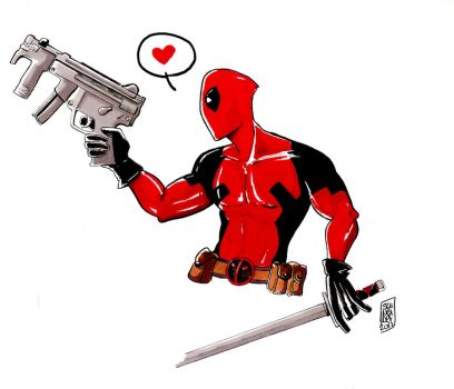 deadpool by MuddleofDoodlez