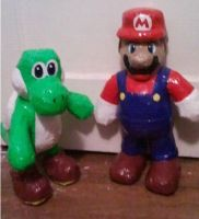Mario and Yoshi by DuctileCreations