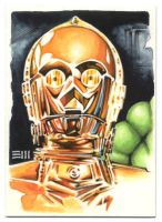 See-Threepio SketchCard Commission by Erik-Maell