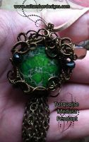 Green Turqoise Pendant by tanyquil