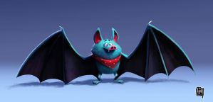Character design - Toon Bat by cesarvs