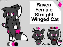 Raven- Fursona Reference by CocoaColaa