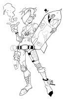 Sam's TANKGIRL inks by shanelong