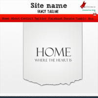 Visiting card web template by TheGraphicGeek