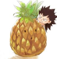 Gajeel N' Pineapple by Bludy-chu