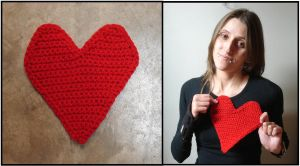 Crocheted Heart by RebelATS