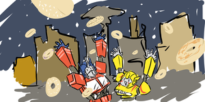 Bagels For Cybertron by LittleSocket