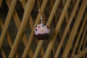 Pink Party Cupcake Earrings by KudTheUntitled