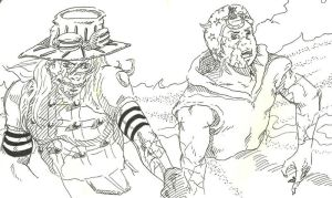 Zeppeli and Joestar by Llewxam888