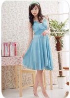elegant chiffon Dress blue by fashionclothing4u