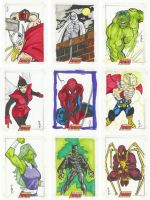 Complete Avengers sketch pg. 2 by jasonsobol