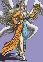 Commission Angel in Fashion Color by leandro-sf