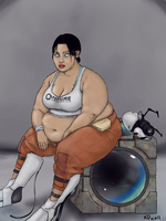 Commission - Chell by kawaiidebu