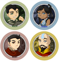 Legend of Korra Button Set by direndria