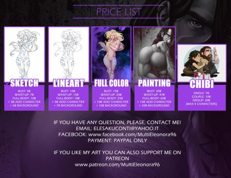 Price List - Commissions Info by multieleonora96