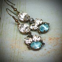 Vintage Rhinestone Earrings by rewelliott