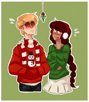 DaveJade- Under the mistletoe by Omnomnom-Monster
