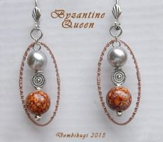 Byzantine Queen Earrings by DombiHugi