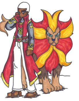 Copic challenge 2 Pokemon trainer King by Lockheart23