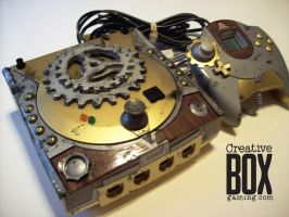 Steampunk Custom Sega Dreamcast by CreativeBoxGaming
