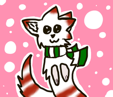 Candy-cane Cat by KaylaTheWolf13
