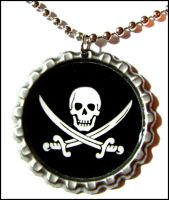 jolly rodger necklace by bleedsopretty