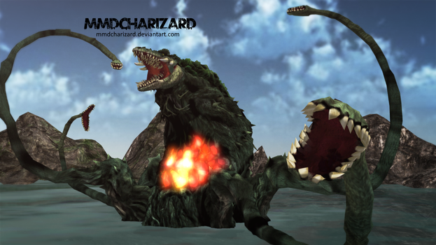 MMD Newcomer - PS3/PS4 Biollante +DL+ by MMDCharizard