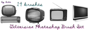 Television Photoshop Brush Set by punkdoutkittn