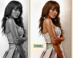 Colorize Rihanna by Valle89