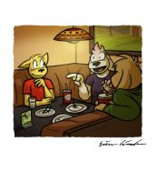 Lunch at Herman's by simondrawsstuff