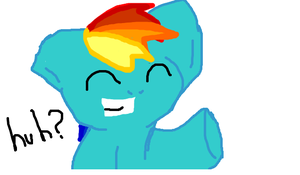 Who Needs Fingers When You Have A Rainbow Haircut? by DarkietheFox