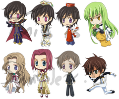 Code Geass Chibis by FadingColors