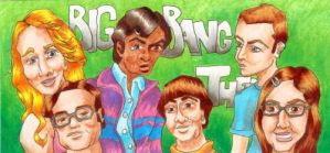 Big Bang Theory ATC Triptych - Complete by burning-thirteen