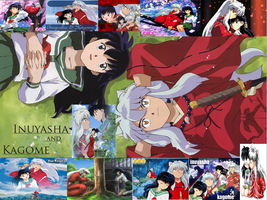 InuYasha and Kagome collage by kashkat