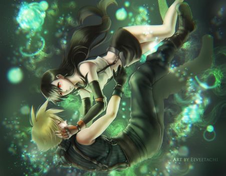 The Only Hope For Me Is You (Cloud x Tifa FFVII) by Eeveetachi