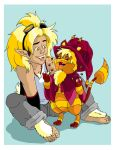 DS and Felix Ringtail by Jaymzeecat
