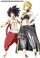 Dimaria and Ajeel Fairy Tail 445 by Maxibostero