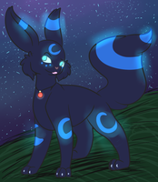 Shiny umbreon by CursedSkyWarrior