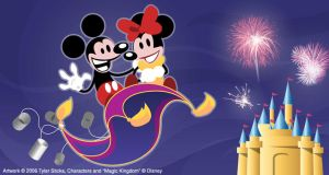 Mickey and Minnie Card Illus. by tylersticka