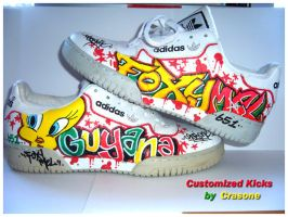 Customized Adidas Kicks by jonix
