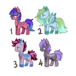 Pony Adoptables - 2/4 OPEN by Blithe-Adopts