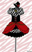 Dress Design - Zebra Loli by SoloAzume