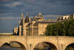 Golden Glow on the Pont Neuf and Conciergerie by artamusica