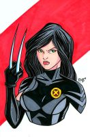 X-23 Headshot Colored by RichBernatovech