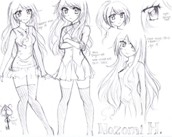 Sketch: Nozomi Reference Doodle by BitterSweetNitemare