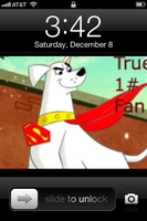 Krypto IPhone Lock Screen. by DixieDevated
